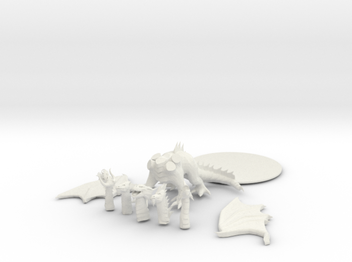 Tiamat - Queen of all dragons! 3d printed