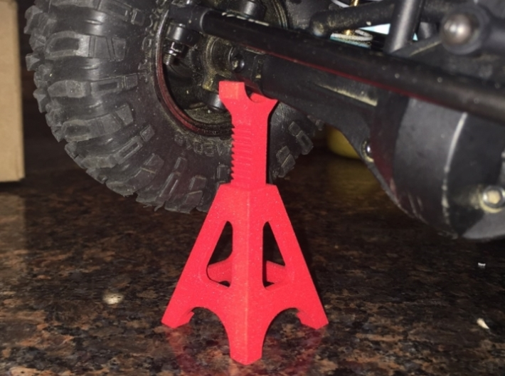 Scale Jackstand 3d printed Print from Shapeways in Red Strong Flexible