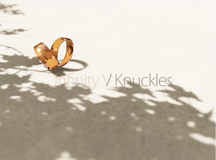 The Infinity V Knuckle Ring 3d printed enterinity and life wrapped around your finger