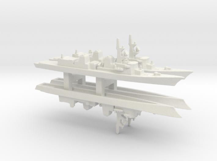 Murasame-class destroyer x 4, 1/3000 3d printed