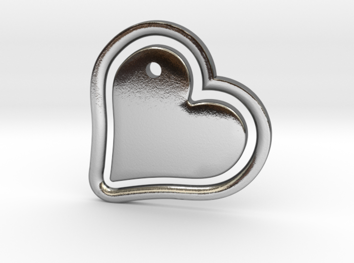 Heart in my Heart (w. customization tool) 3d printed