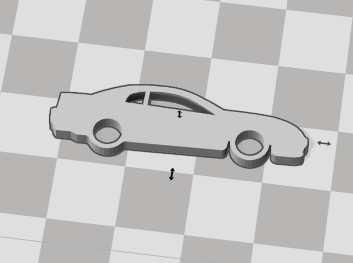1999-2004 Ford Mustang Keychain 3d printed