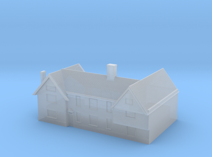 1:700 Scale Parham Village House 6 3d printed
