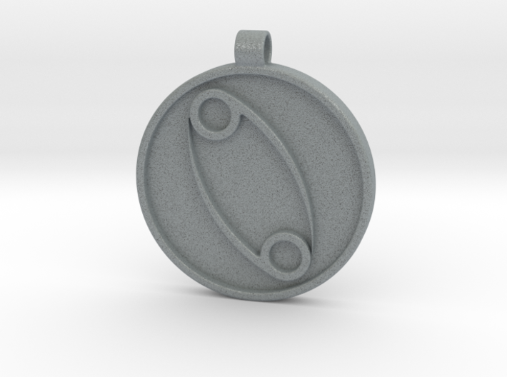 Zodiac KeyChain Medallion-CANCER 3d printed