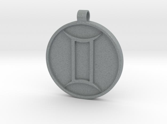 Zodiac KeyChain Medallion-GEMINI 3d printed