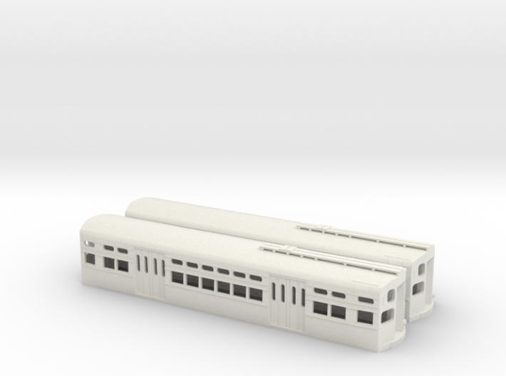 CTA Flat Door 6000s Pair with Trolley Boards 3d printed