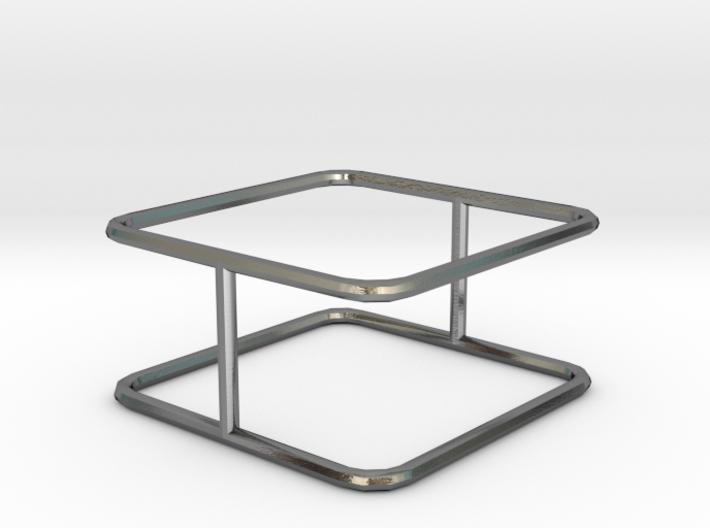 "Ring - ""Cube"" (18 x 1 mm) 3d printed"