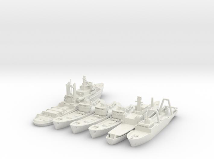 Cod War Set 1 1:700/600 3d printed