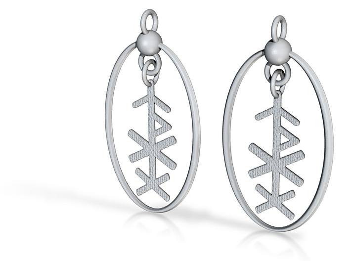 Love Rune Formula Earrings 3d printed
