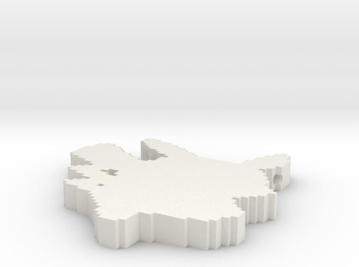 Pikachu Pendant 3d printed