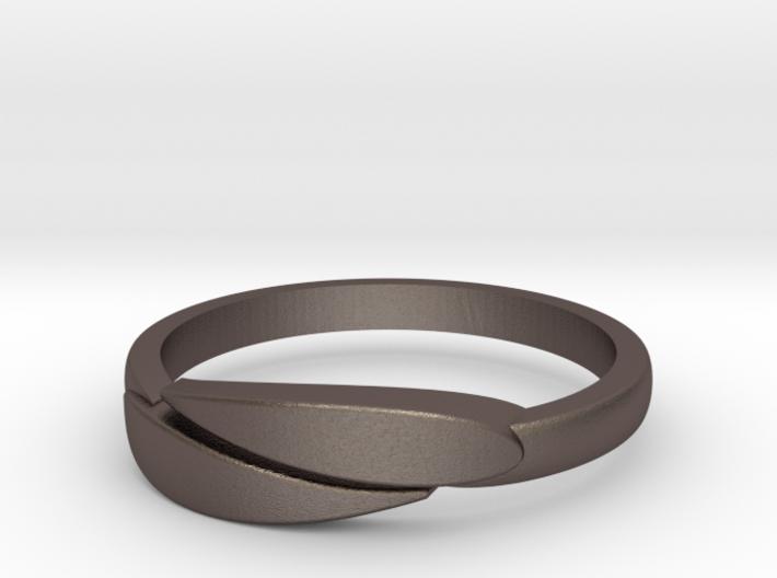 Ring Leaf Steel 3d printed
