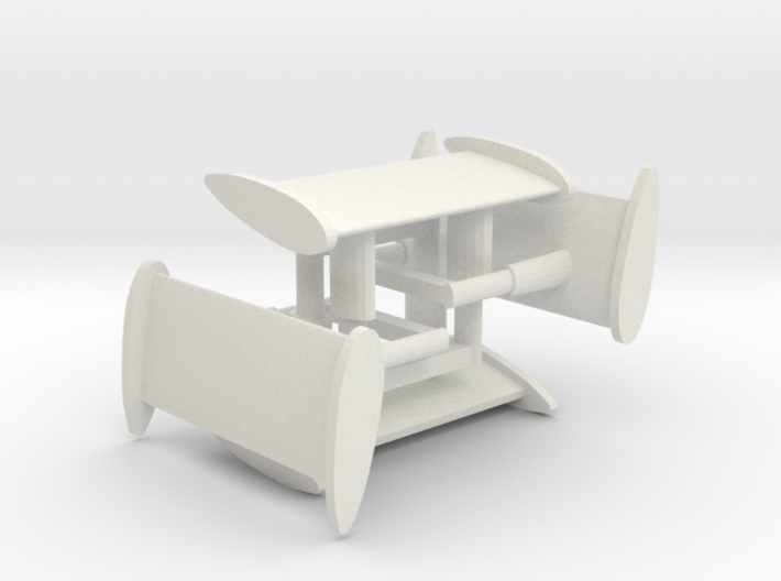 HO Aurora AFX Shadow Wings / Fins for Slot Car 3d printed