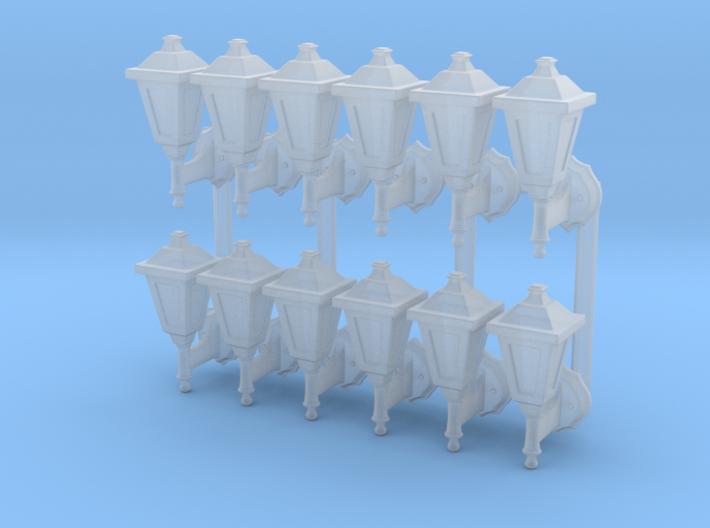 Street lamp 02. HO Scale (1:87) 3d printed