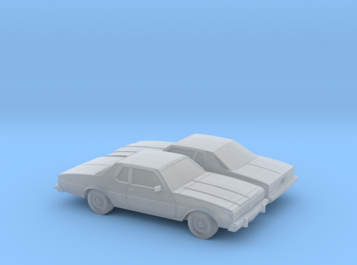 1/160 2X 1977-78 Chevrolet Caprice Coupe 3d printed