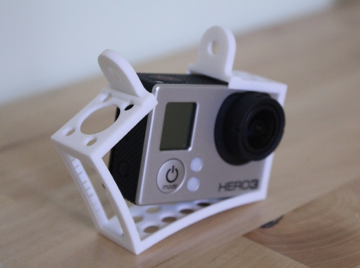 GoPro Hero3 & Hero4 - Frame'ish - d3wey 3d printed Stretches round the Hero3 to fit