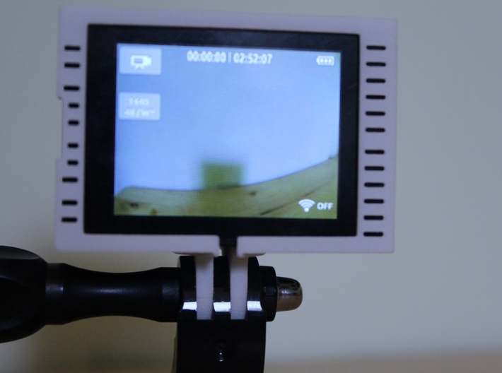 "GoPro Hero3 ""Touch'n'Batt"" Frame'ish (Frame) 3d printed Leaves space for use of the touch screen."