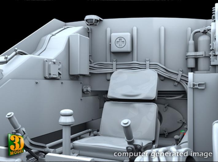 ZSU-23-4 shilka driver compartment (MENG) 3d printed ZSU-23-4M driver compartment - seat & back wall