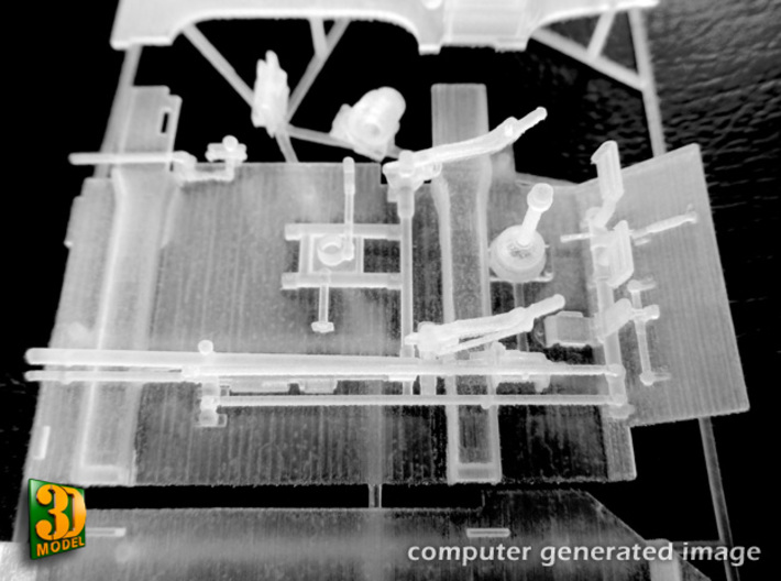 ZSU-23-4 shilka driver compartment (MENG) 3d printed ZSU-23-4M driver compartment - detail actual print