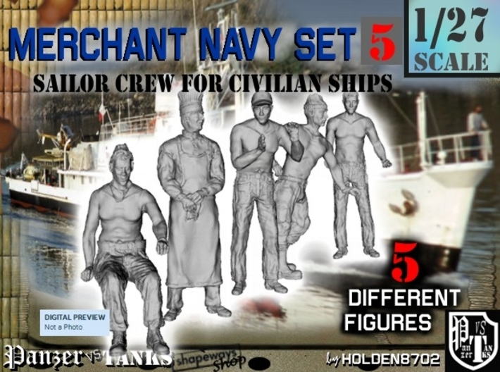 1-27 Merchant Navy Crew Set 5 3d printed