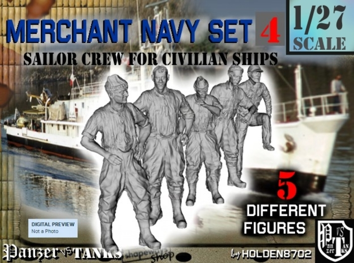 1-27 Merchant Navy Crew Set 4 3d printed