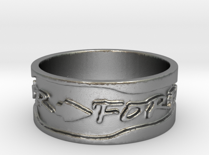 Warrior Forever Ring (Size 4) 3d printed