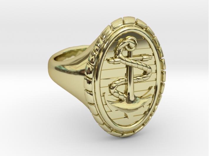 CAPRI Ring 3d printed CAPRI Ring in 18k Gold Plated