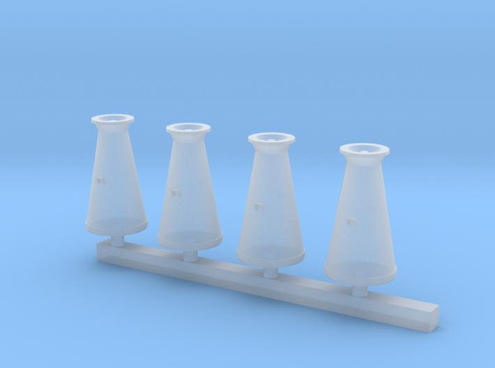 Milk Churns 4mm scale 3d printed