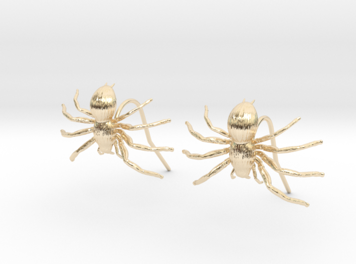 Spider Earring Two Pieces 3d printed