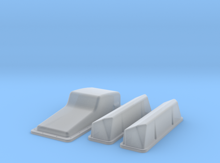 1/16 Ford 427 Side Oiler Stock Pan And Cover Kit 3d printed