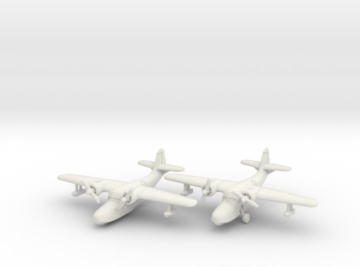 Grumman JRF-5 Goose (2 airplane set) 1/285 6mm 3d printed
