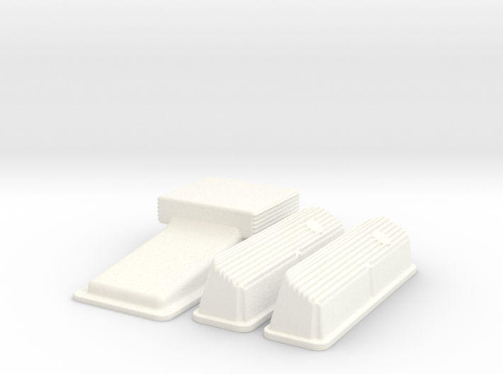1/8 Ford 427 Side Oiler Finned Pan And Cover Kit 3d printed