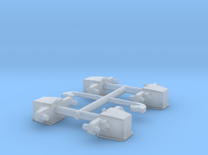 GN 15 Achslager und Schlemper für GN 15 DIN Lore 3d printed