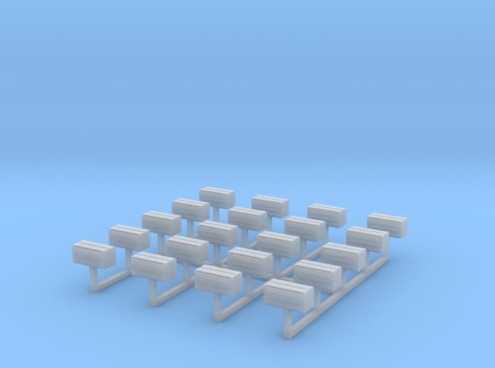 Orange Shipping Crate Set N 3d printed
