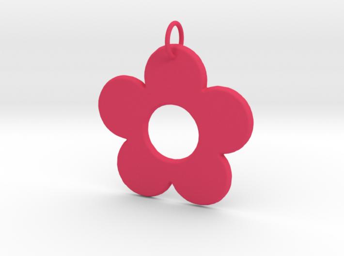 Groovy Flower Pendant 3d printed