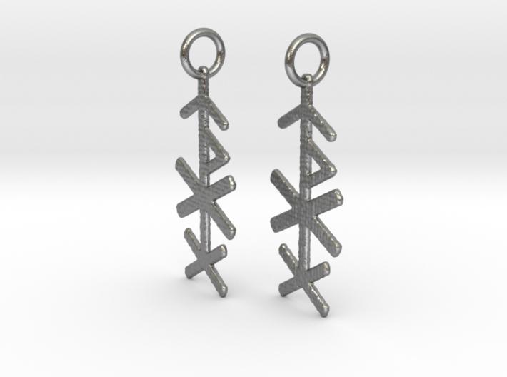 Love Bind Rune Earrings 3d printed