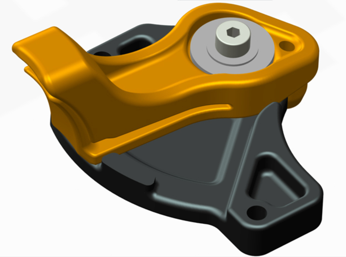 Vaterra Twin Hammers Manual Gear Change Base Part  3d printed