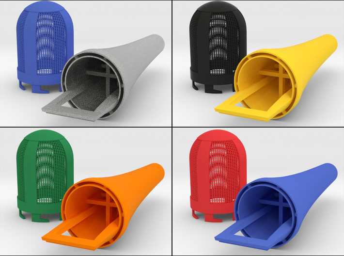 Top Part For Handheld Microphone Adapter 3d printed An example of the multi-color possibilities!