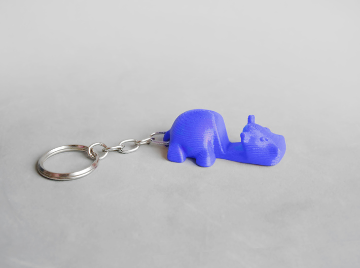 Keychain Hippo / stmarphone Stand 3d printed