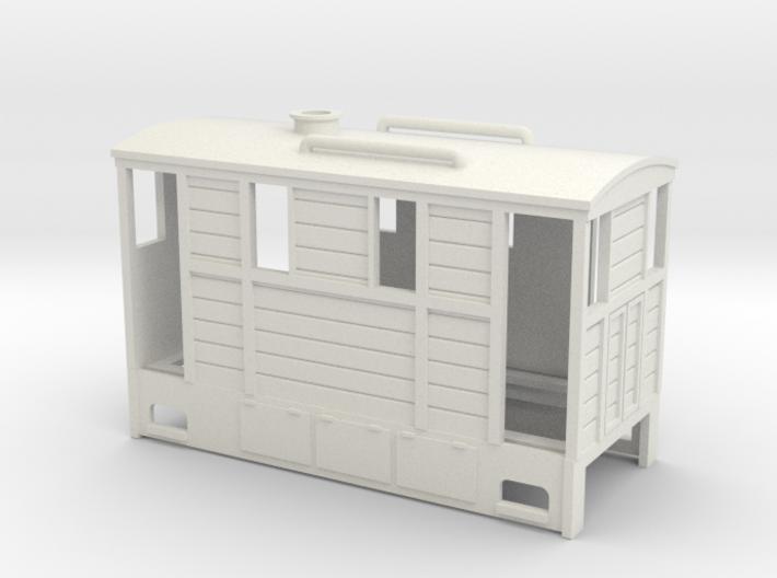On30 wood tram loco 3d printed