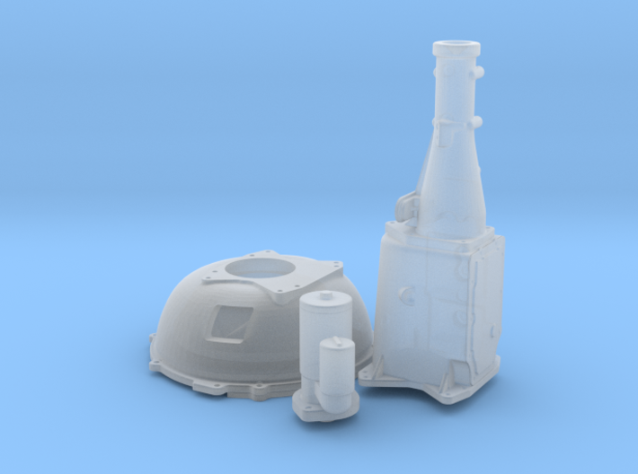 1/32 Ford 427 Side Oiler Bellhousing And Tranny 3d printed