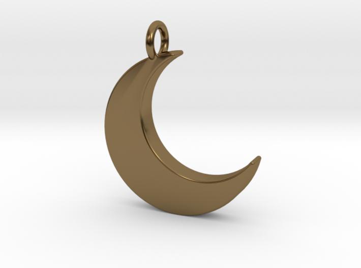 Crescent Moon Pendant 3d printed