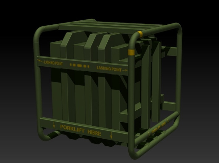 Sulaco Box with Rail 1:12 3d printed