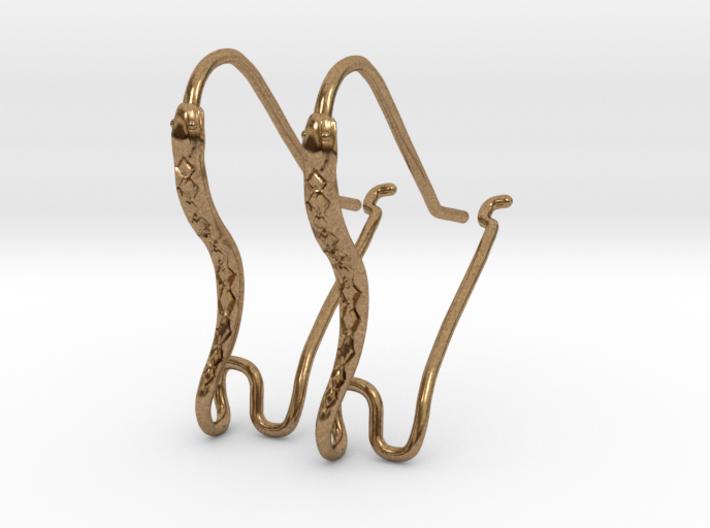Earring Hooks 1, Snake 3d printed