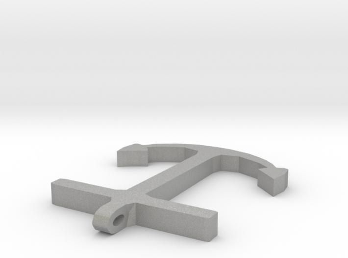 Anchor Half Scale 2-Circle 3d printed