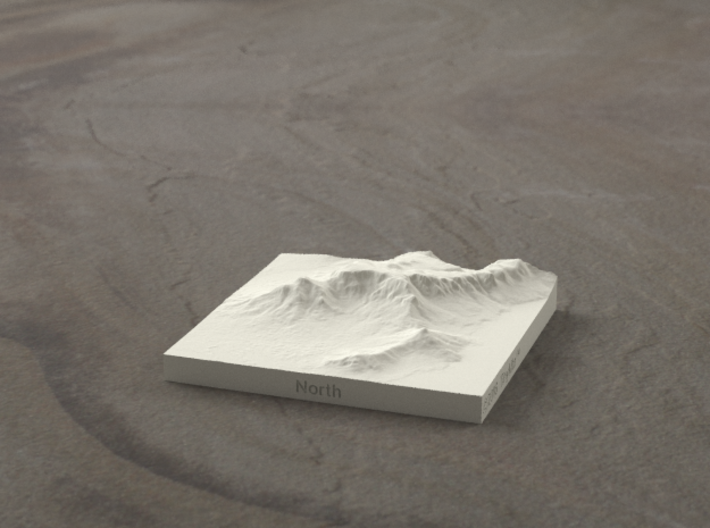 3''/7.5cm Table Mountain, South Africa 3d printed Radiance rendering of the 3'' model