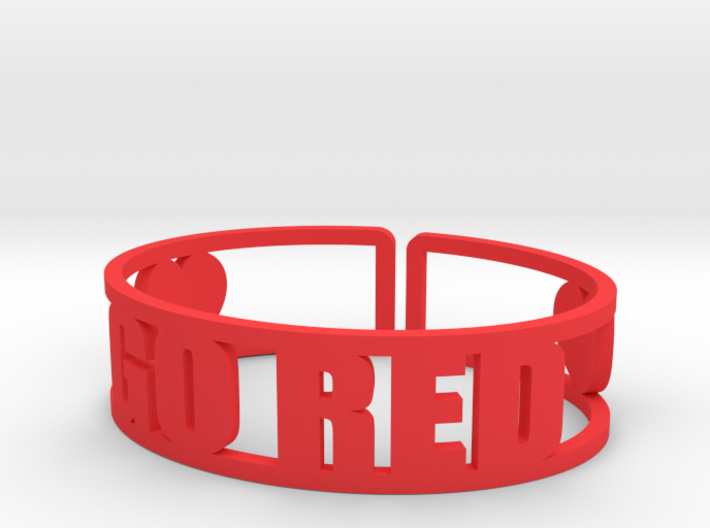 Go Red 3d printed