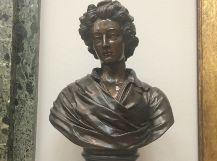 1/9 scale Percy Bysshe Shelley bust 3d printed