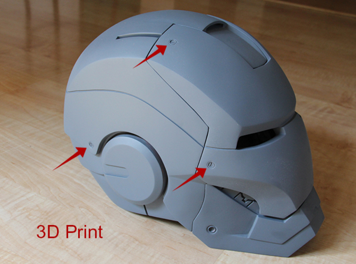 Iron Man Helmet Detailing Screw (Only One) 3d printed