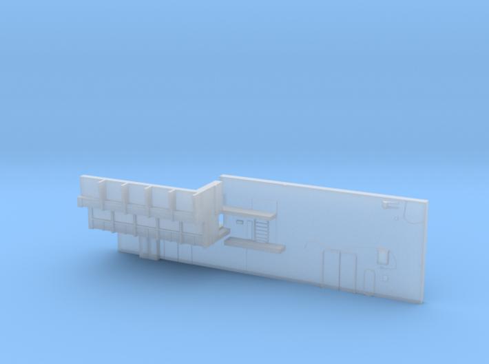1:350 Scale Nimitz Class Hangar Back Wall 3d printed