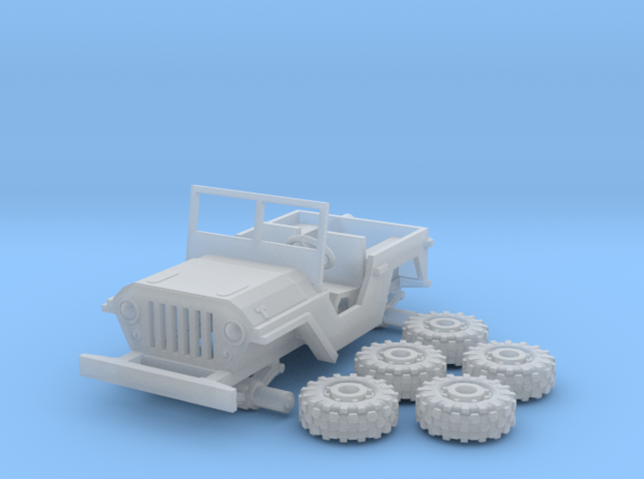 1/100 Toy Jeep 4x4 3d printed